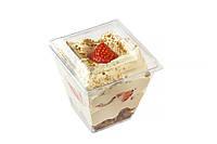 """Пластиковый стаканчик """"Пирамида"""" для десертов+крышка (обьем 200 мл.) 10 шт."""