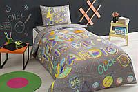 Тас Click gri  подростковое постельное бельё