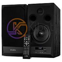 Колонки 2.0 Sven MC-20 Black, 2 x 45 Вт, МДФ, Bluetooth, питание от сети 220V, управление спереди + пульт ДУ