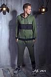 Мужской спортивный костюм Турецкая двунитка Размер 48 50 52 54 В наличии 5 цветов, фото 9
