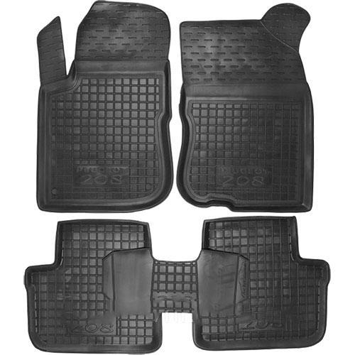 Коврики в салон для Peugeot 208 2012-> черный, кт - 4шт 5-ти дверный  11364 Avto-Gumm