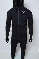 Костюм спортивный мужской теплый PM 8332-01 черный реплика