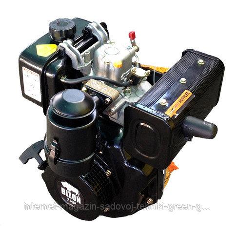 Двигатель дизельный Bizon 186F (10 л. с., вал шлицевой Ø25 мм) оригинал