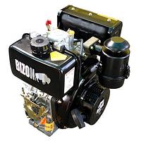 Двигатель дизельный Bizon 186FE (10 л. с., вал шлицевой Ø25 мм, электростартер) оригинал, фото 1