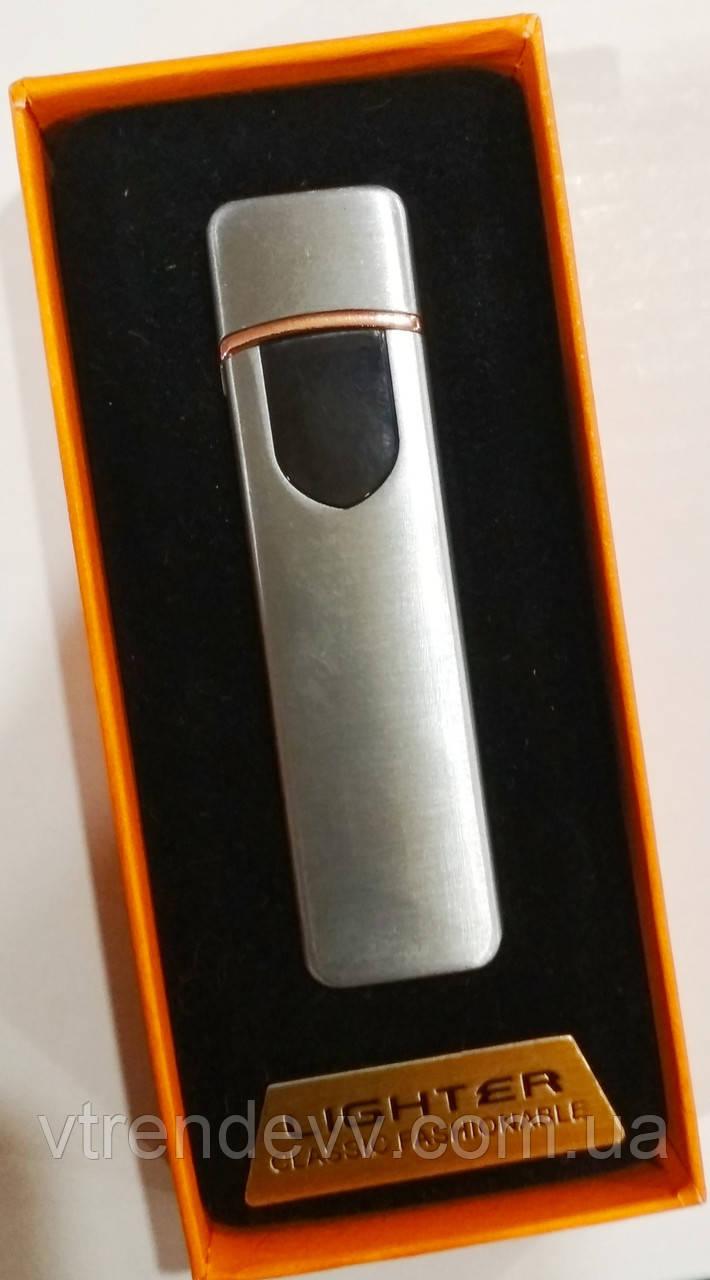 Зажигалка спиральная Lighter JL706 USB Original серебро