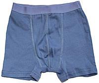 Трусы-шорты для мальчиков, серо-синие, рост 128 см, Бемби