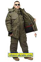 Зимний дышащий костюм для рыбалки и охоты Nova Tour Буран v.2 хаки