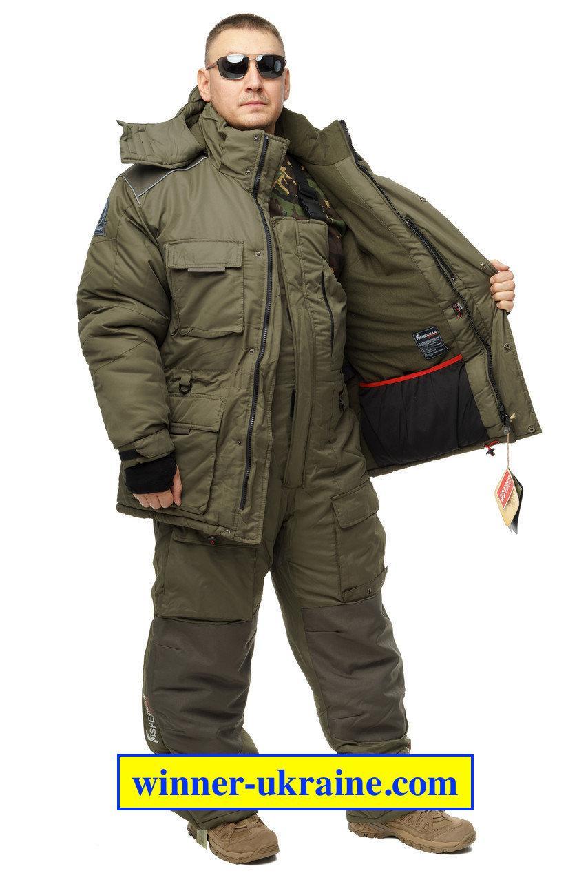 Зимовий дихаючий костюм для риболовлі та полювання Nova Tour Буран v.2 хакі