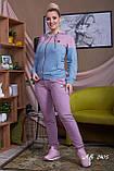 Трикотажный спортивный костюм женский Размер 48 50 52 54 56 В наличии 4 цвета, фото 4