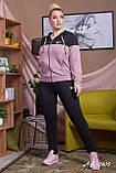 Трикотажный спортивный костюм женский Размер 48 50 52 54 56 В наличии 4 цвета, фото 7