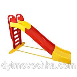 Детская большая горка Active Baby014550/3Doloni Toys, 2430 мм, красная с желтым