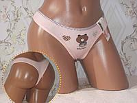 Женское нижнее бельё, стринги бикини хлопок. Размер 42-46, фото 1