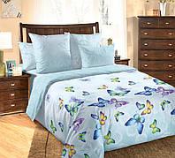 Комплект постельного белья Блю Батерфляй, перкаль (Полуторный)