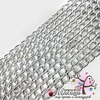 Цепочка для сумки, 12х8 мм, серебро