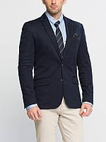Мужской пиджак классический LC Waikiki / ЛС Вайкики синий c 2 клапанами, с внутренним карманом, на подкладке