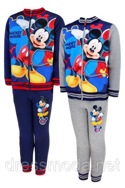 Костюм двойка с начесом для мальчиков  Mickey  98-128р.