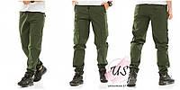Мужские штаны джоггеры с накладными карманами. 4 цвета!