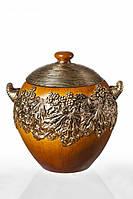 Декоративная ваза из полистоуна светло-коричневого цвета в форме шара (36см)купить в интернет магазине