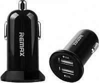 Адаптер автомобильный REMAX Mini RCC-201  2USB, 2.1A  Black