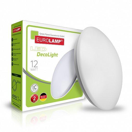 Светодиодный настенно-потолочный LED светильник EUROLAMP круглый накладной Decolight 12W 4000K