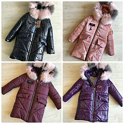 Шикарная теплейшая удлинённая куртка зимняя
