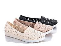 Мокасины (туфли) женские силиконовые МАЛОМЕР, молочные размеры 36,37,39,40