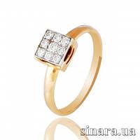 Золотое кольцо с бриллиантами 17679