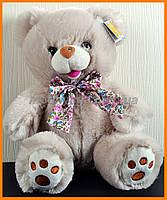 Мишка с бантом 25 см светлый | Плюшевый медведь