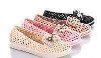 Мокасины (туфли) женские силиконовые, молочные размеры 36,37