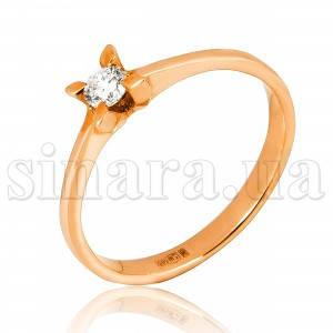Золотое кольцо с бриллиантом 25406