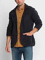 Мужской пиджак LC Waikiki / ЛС Вайкики синий меланжевый c 3-мя накладными карманами, на пуговицах