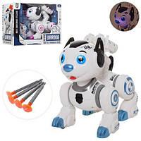 Робот-собака 0831, 16 см, ходит, музыка, свет, стреляет присосками, фото 1