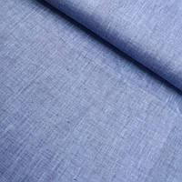 Лён джинс синий, меланжевый, ширина 150 см