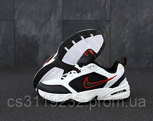 Мужские кроссовки Nike Air Monarch IV Black White (черно-белые)