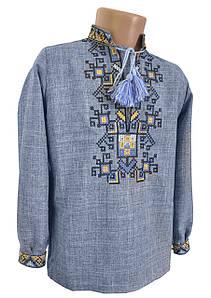 Сорочка Вишиванка для хлопчика лляна Family look р. 158-176