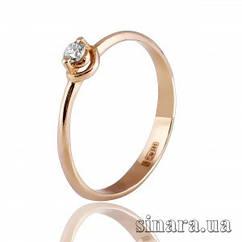 Золотое кольцо с бриллиантом 27257