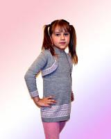 Платье для девочки с болеро вязанное, разные цвета
