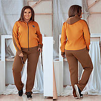 Женский спортивный трикотажный костюм оранжевый 5 расцветок