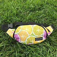 Сумка на пояс бананка для дівчинки Tiger лимон