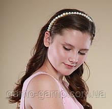 Обруч для волос с жемчужными бусинами