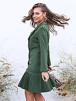 Платье пиджак с юбкой плиссе
