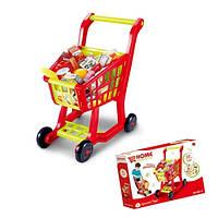 Игровой набор супермаркет. Детская тележка с продуктами