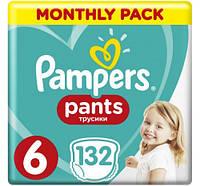 PAMPERS дитячі підгузки-трусики  PANTS EXTRA LARGE (15+ КГ) мега упаковка  132