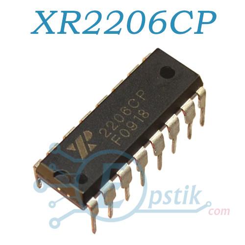 XR2206CP, генератор сигналов, DIP16