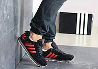 Мужские кроссовки Adidas (весна-осень, мужские, замша, черные)