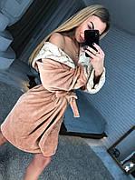 Красивый халат женский махровый с капюшоном, фото 1