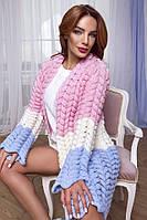 Женская вязанная кофта кардиган крупная вязка Estilo Diani размер универсальный 42-46