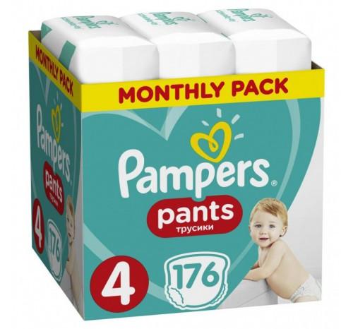 Дитячі підгузки-трусики PAMPERS PANTS MAXI (9-15 КГ) мега упаковка  176
