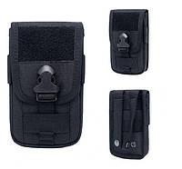 Чехол тактический на пояс с Molle для телефонов / сумка тактическая поясная + отсек для кредиток / кардхолдер