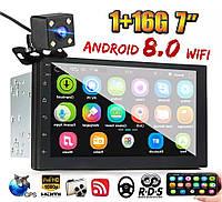 """IMars 7"""" 2DIN Магнитола Android 8 /GPS /WIFI /Bluetooth / +камера заднего вида  A75789"""